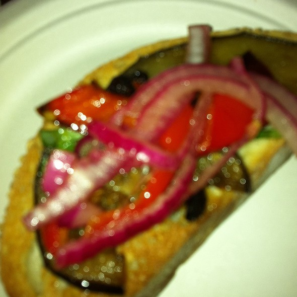 Eggplant, Red Onion Tomato Brushetta @ The Art Of Food Charity Event At Kochen Art Gallery To Benefit Slow Food St. Louis