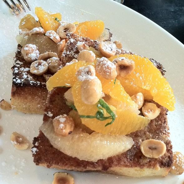 Hazelnut-Crusted French Toast @ Locanda Verde