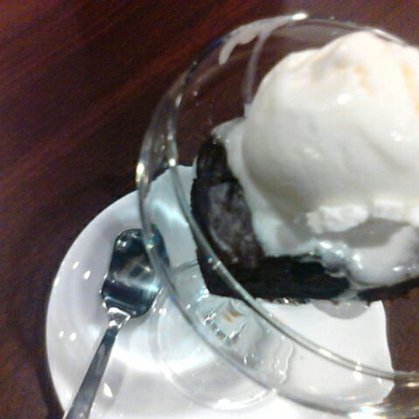 Brownie with Ice Cream @ Nj Cafe & SteakHouse