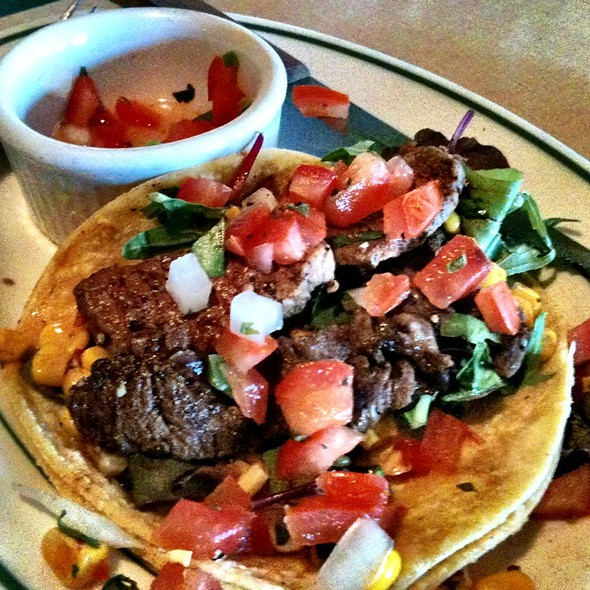 Steak And Corn Tacos @ Stonefly Brewery