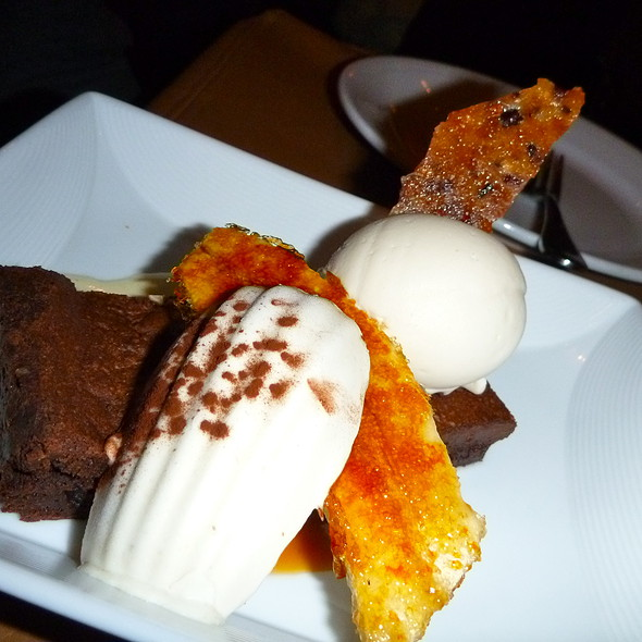 Brownie with Caramelized Banana and Ice Cream Madeleine @ David Burke's Primehouse