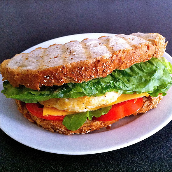 egg and cheese sandwich @ Home