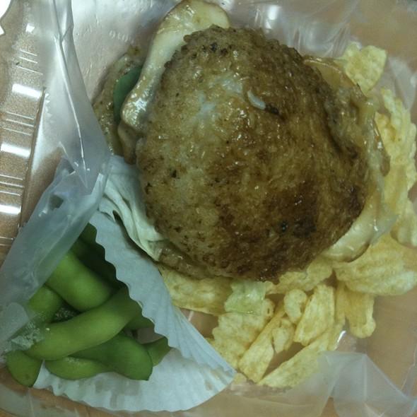 Brown Rice Burger  @ Cafe Green Tea