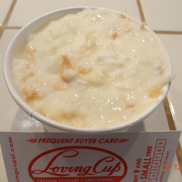 Coconut rice pudding @ Loving Cup
