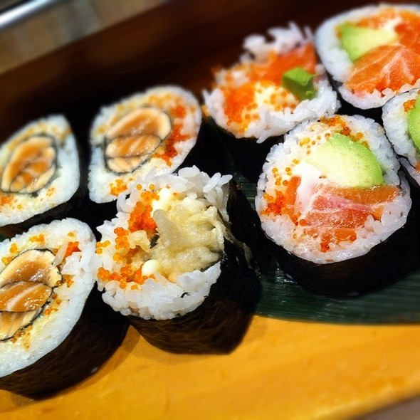 Deep-Fried Salmon Roll And Salmon Avocado Roll