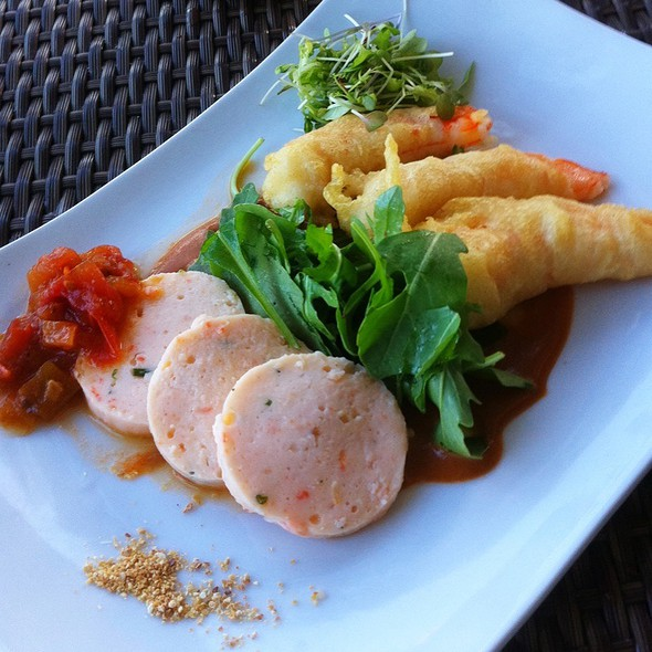Tasting of Local Shrimp - BLU Restaurant & Bar, Folly Beach, SC