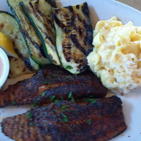 Fish House Huntington Beach Part - 41: Blackened Catfish With Grilled Zucchini And Mac N Cheese At King Fish House