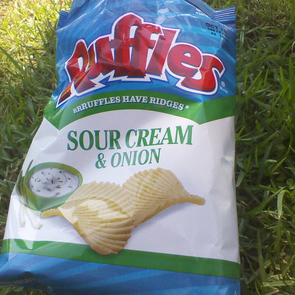 Ruffles Sour Cream & Onion Chips @ Clem's Bottle House