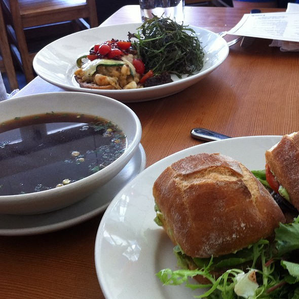 Canelloni Sandwich, Eggplant Sandwich, Corn Husk Soup @ Gather