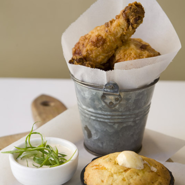 Fried Chicken in a Bucket @ Delicatessen
