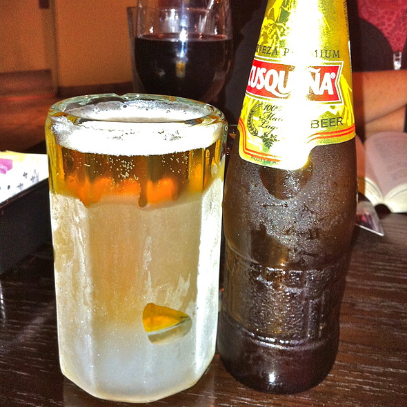 Cusqueña Beer @ dx peruvian restaurant
