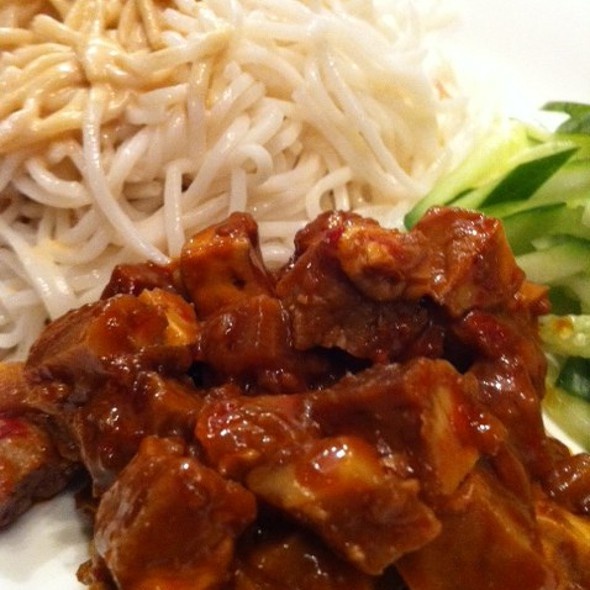 Cold Noodles with Spicy Pork @ New Shanghai Chinese Restaurant