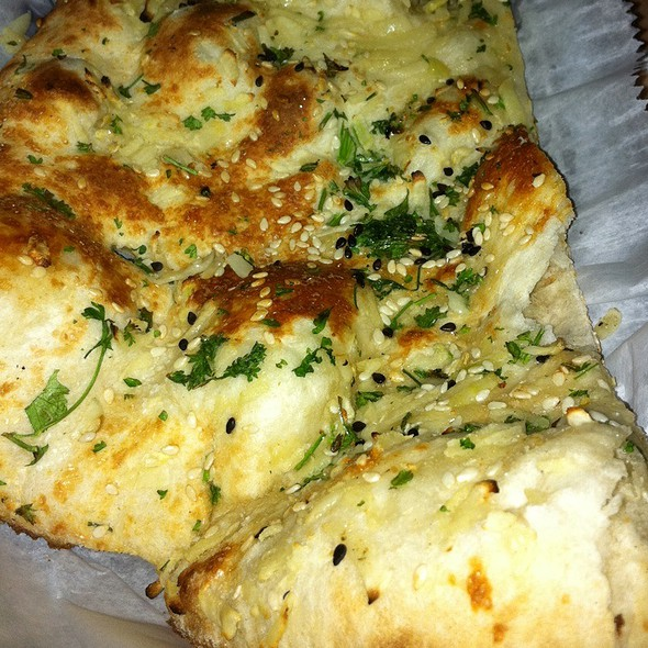 Roasted Garlic & Herb Naan @ Tandoor Indian Bistro