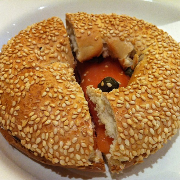 Smoked Salmons , Cream Cheese And Capers @ Huff Bagelry