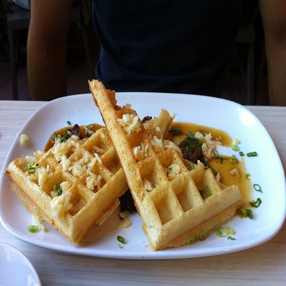 Short Rib And Cheddar Waffles @ Waffles