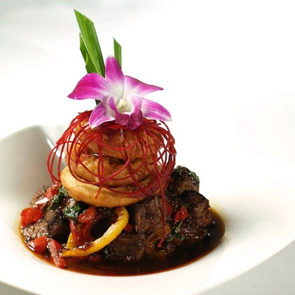 Volcanic beef @ Osha Thai Inc