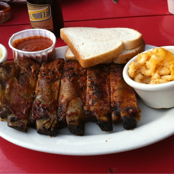 half rack of ribs plate @ Fat Matt's Rib Shack