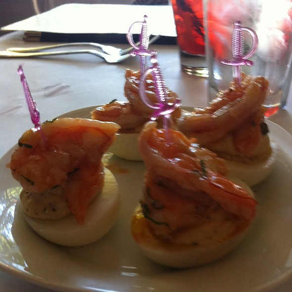 Deviled Eggs With Shrimp @ The Waterboy Restaurant