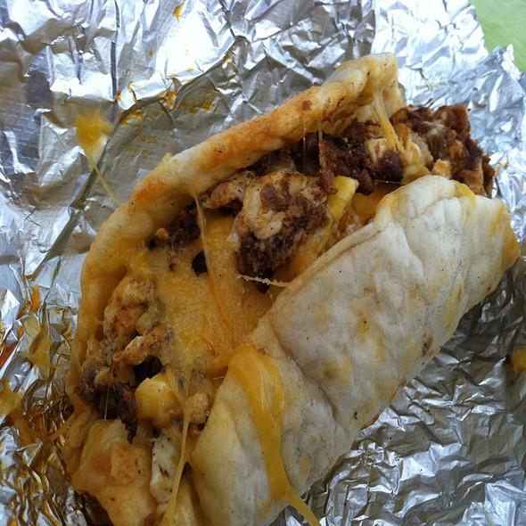 Chorizo, Egg, And Cheese Breakfast Taco @ la mexicana bakery