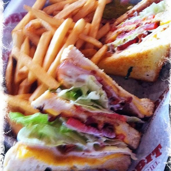 Turkey Bacon Club Sandwich @ Hobbit American Grill