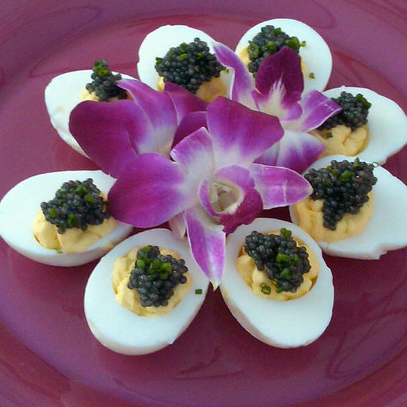 Mini Deviled Eggs with Caviar @ HBO Emmys After Party
