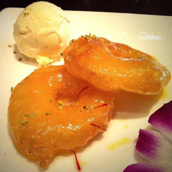 Apple Jalebi With Cardamom Ice Cream - Rasika, Washington, DC