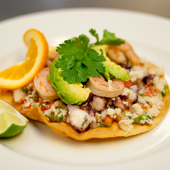 Fish Tostada @ Casa Del Mar
