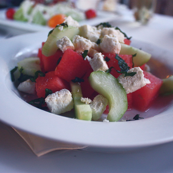 Watermelon And Cucumber Salad - The Mustard Seed, Davis, CA