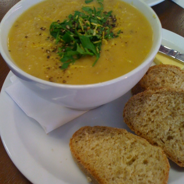 pumpkin, leek and potato soup @ Manna Wholefoods