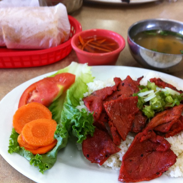 Bbq Pork Plate @ Quoc Huong Banh Mi Fast Food
