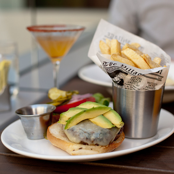 Hamburger with Gruyere and Avocado and Kennebec Fries @ Bluestem Brasserie