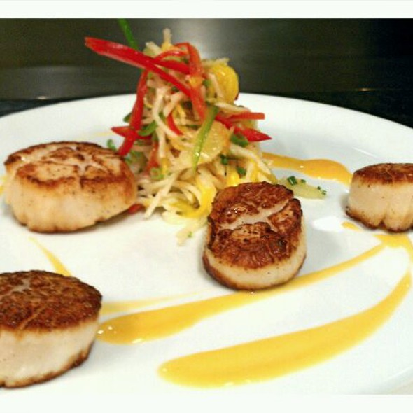 Pan Seared Scallops  @ The Sandbar