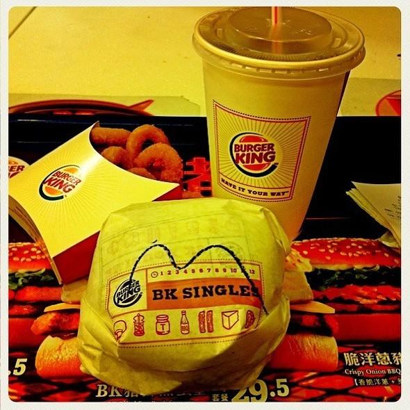 Burger @ Burger King, Hong Kong
