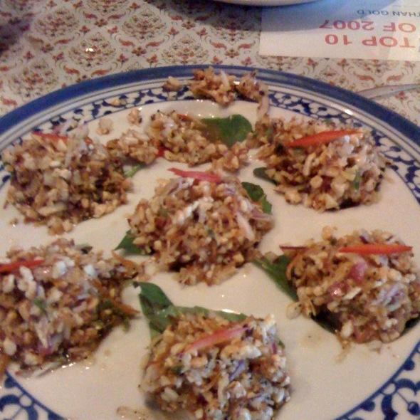 Shrimp and peanut appetizer @ Jitlada