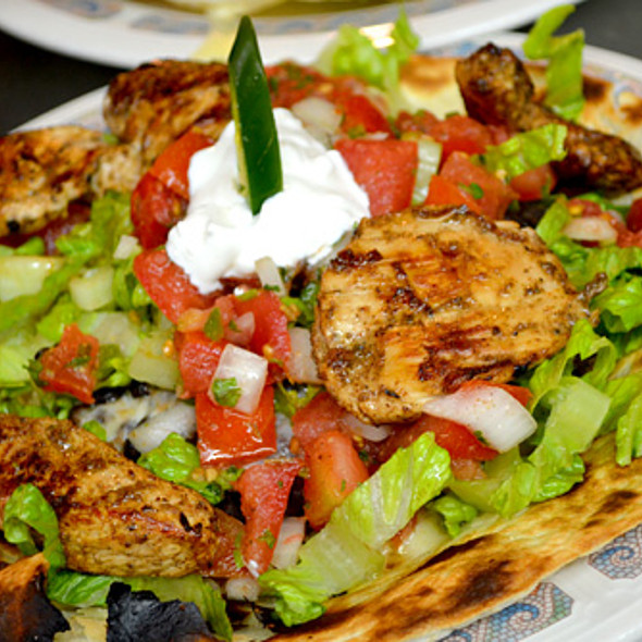Grilled Chicken Flatbread @ Blue Heaven Restaurant