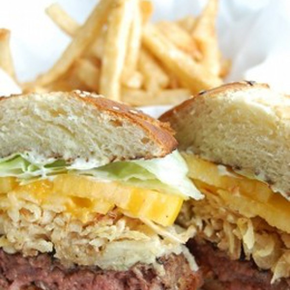 Thrillist's Favorite Burger @ John Howie Steak House Restaurant & Bar