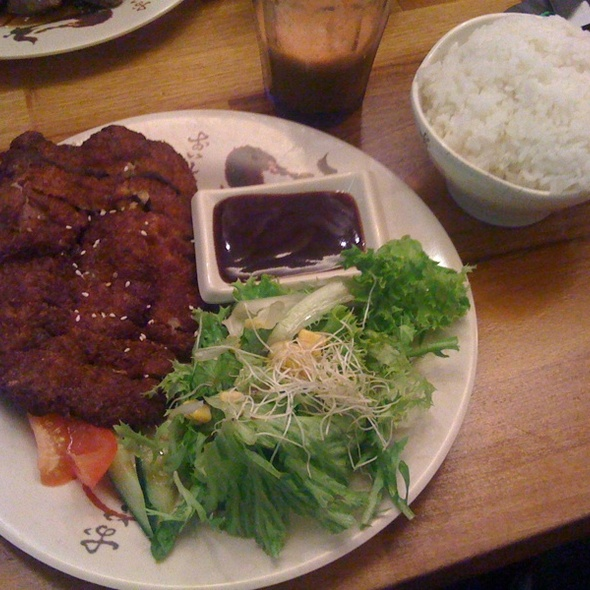 Japanese Style Fried Porkchop With Steamed Rice @ Eat Mode
