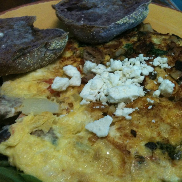 Fish Omelet W/ Taro English Muffin @ Diamond Head Cove Health Bar