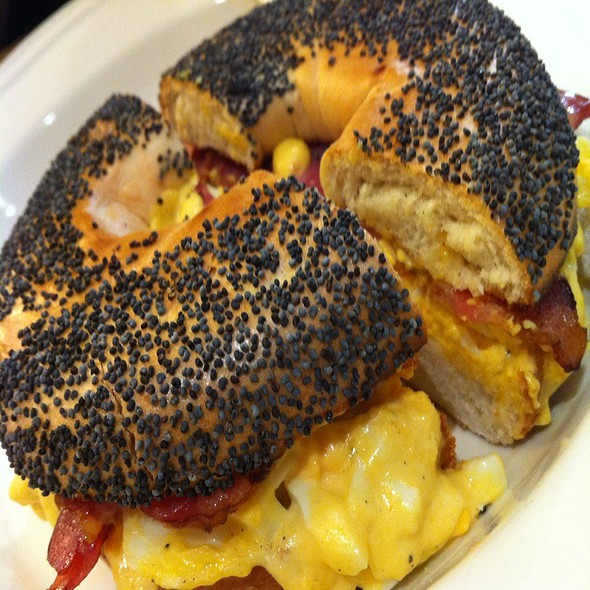 Chopped Eggs And Bacon @ Huff Bagelry