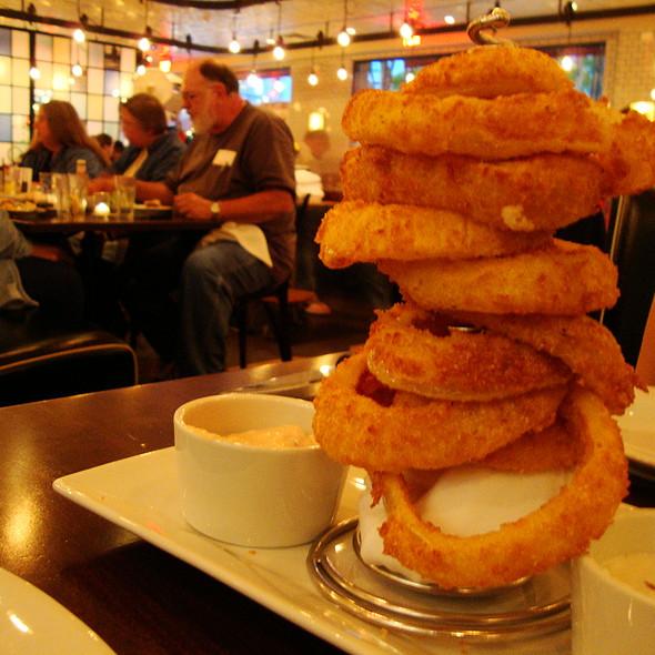 Stack of Cornmeal Crusted Onion Rings - 5 Napkin Burger - Boston, Boston, MA