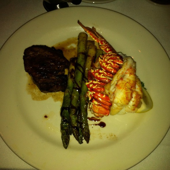 Filet & Lobster Tail With Grilled Asparagus @ morton's the steakhouse - san francisco