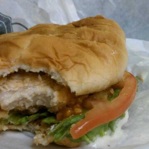 Spicy Chicken Sandwich W/ Bleu Cheese  @ Steak & Shake
