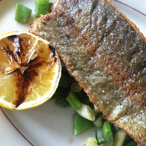 Trout with preserved lemon, mint, cilantro and garlic @ Presidio Social Club
