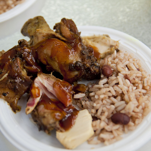 Jerk Chicken @ Sunrise Grill Truck