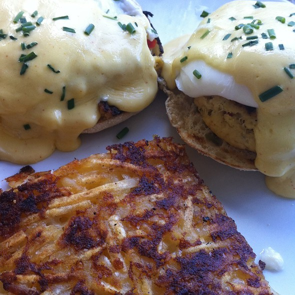 Crab Cakes Benedict - Bagatelle, Key West, FL