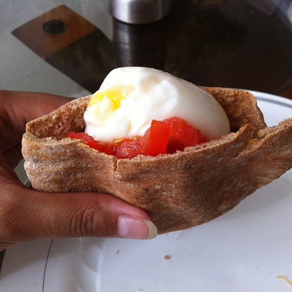 Soft Boiled Egg Sandwich @ Chez Parul