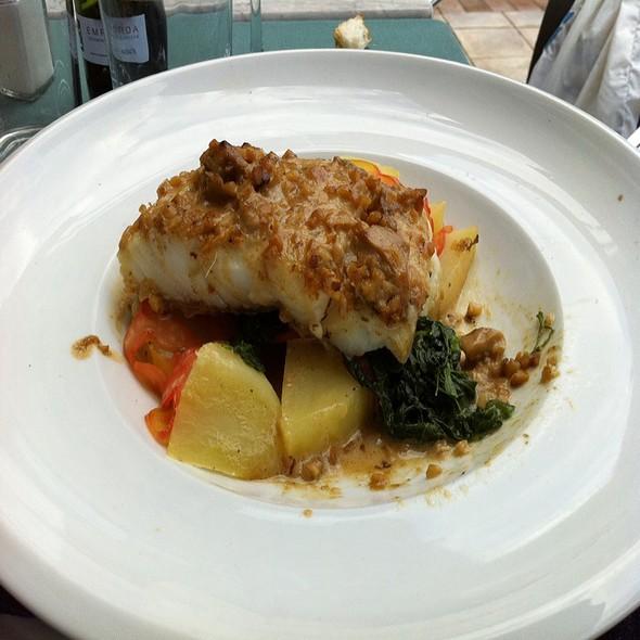 Cod Au Gratin With Mushroom Sauce @ L'hostal de L'aigua