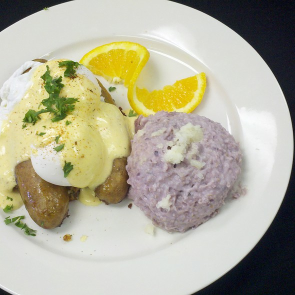 Crab Cake & Andouille Benedict @ A La Carte Cafe Carryout & Catering