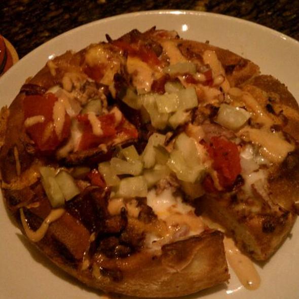 Cheeseburger Pizza @ BJ's Brew House