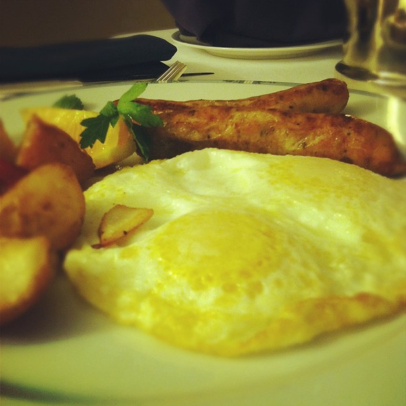 Eggs, Potatoes, And Chicken Apple Sausage @ Le Meridien San Francisco